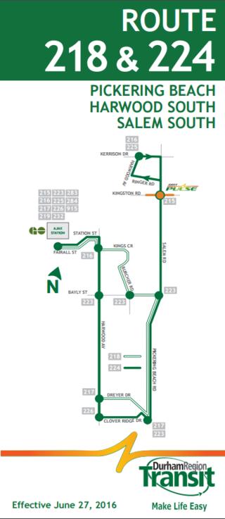 Durham Region Transit Route 224 Harwood South Salem South